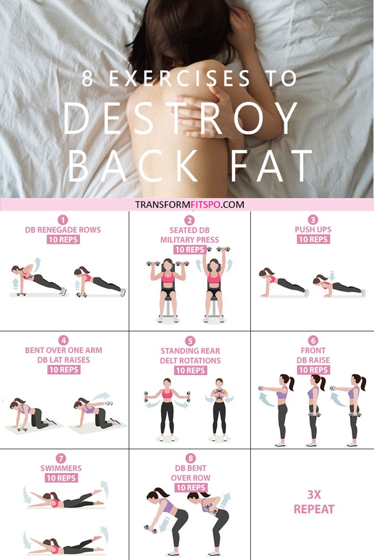 8 exercises to destroy back fat