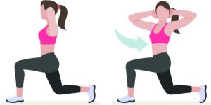 Forward Lunge With Twist