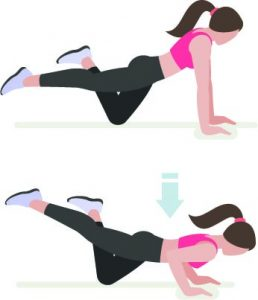 One Knee Push Ups