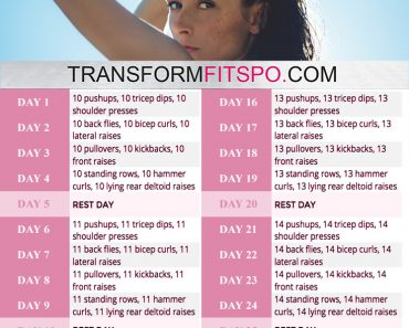 perfect arms 30 day challenge