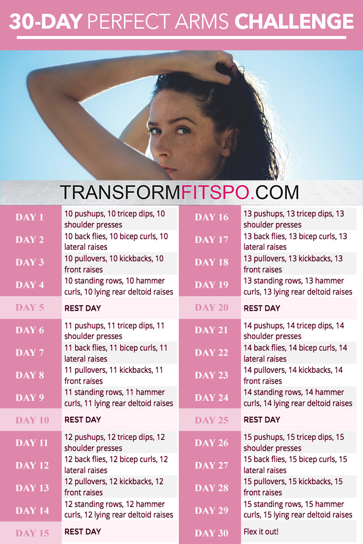 Perfect Arms 30 Day Challenge Transform Fitspo