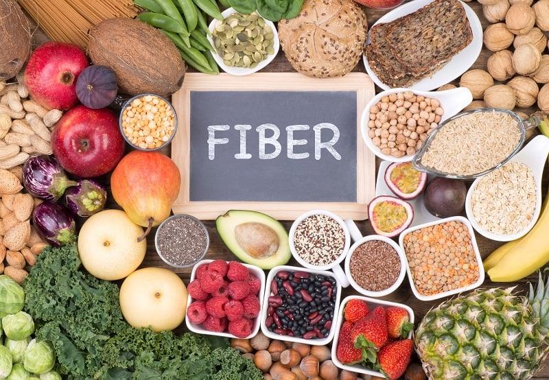 Food rich in fiber